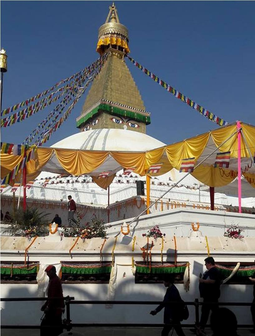 Boudhanath  stands tall again