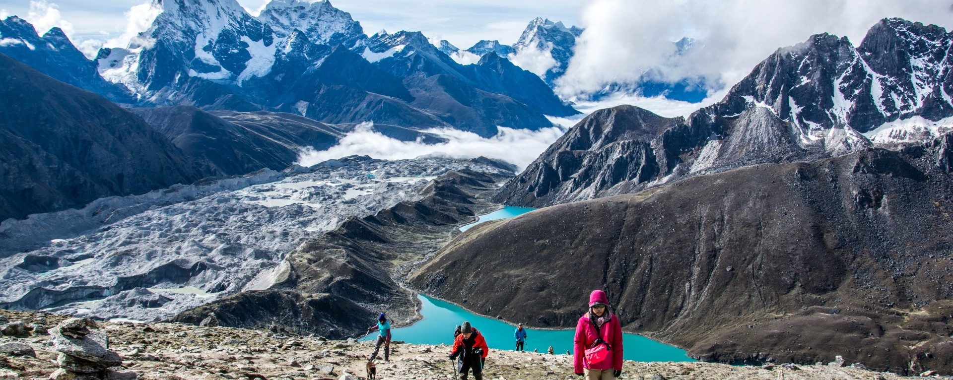 On the way to Gokyo ri, Ngozungpa Glacier