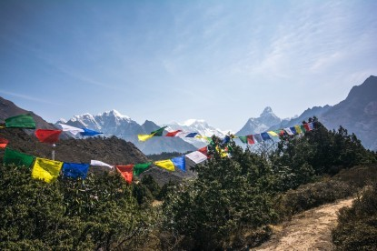 Amadablam view from syangboche