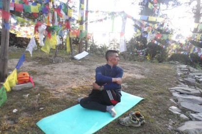 Yoga retreat in Tamang  village