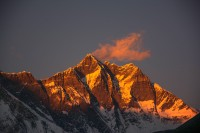 Sunset at Lohtse from Pangboche