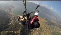 Paraglyding above Fewa lake